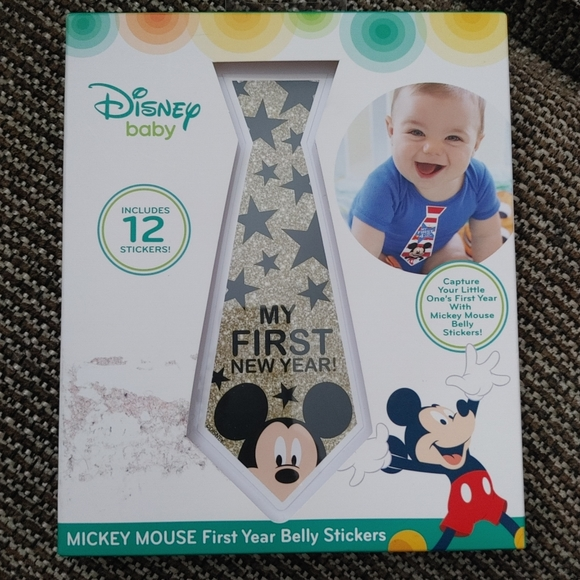 Free w/ 3 - Mickey Mouse FIRST Year Belly Stickers